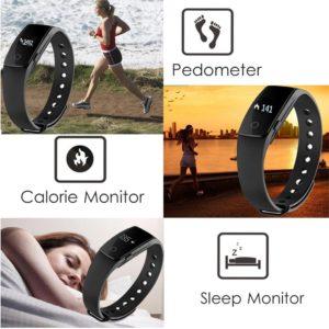 Fitness Armbanduhr,Yamay Fitness Tracker mit Herzfrequenz Pulsuhren PLATZ 3